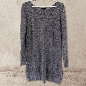 Salt and Pepper Grey Dynamite Long Knit Sweater